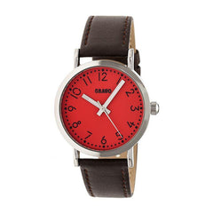 Crayo Pride Leather-BandWatch - Red