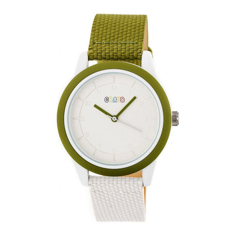 Crayo Pleasant Quartz Watch - Olive/White CRACR3904