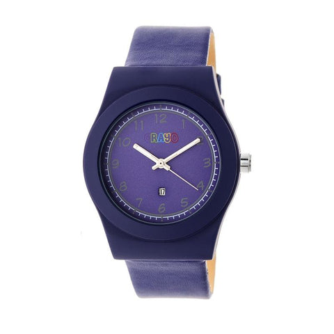 Crayo Dazzle Leather-Band Watch w/Date - Purple CRACR4103