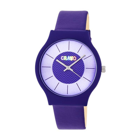 Crayo Trinity Strap Watch - Purple CRACR4407
