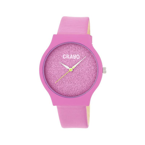 Crayo Glitter Strap Watch - Hot Pink CRACR4501
