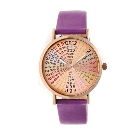 Crayo Fortune Strap Watch - Rose Gold/Purple CRACR4307