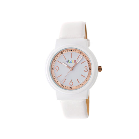 Crayo Vivid Strap Watch - White