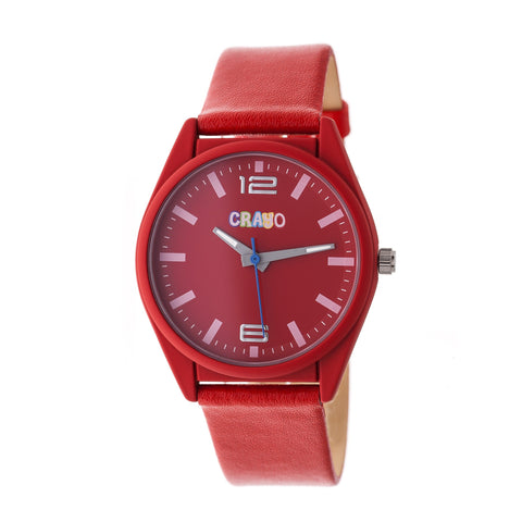 Crayo Dynamic Strap Watch - Red