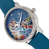 Empress Diana MOP Leather-Band Watch - Teal EMPEM3002