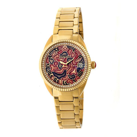 Empress Helena Bracelet Watch w/Date - Gold EMPEM1802
