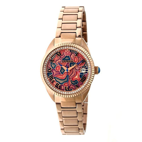 Empress Helena Bracelet Watch w/Date - Rose Gold EMPEM1803