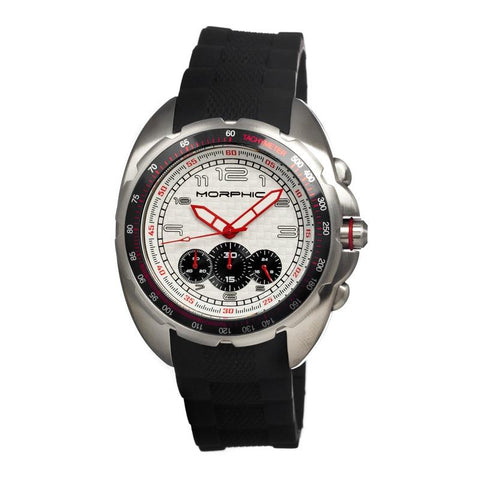Morphic M25 Series Chronograph Men's Watch - Silver/White MPH2501