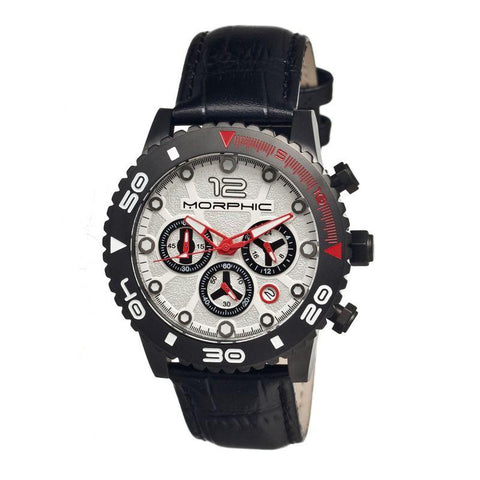 Morphic M33 Series Chronograph Men's Watch w/ Date-Black/Silver MPH3303