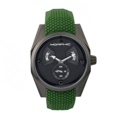 Morphic M34 Series Men's Watch w/ Day/Date - Black/Green