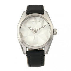 Morphic M59 Series Leather-Overlaid Nylon-Band Watch - Silver