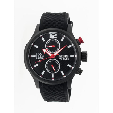 Reign Capetain Automatic Watch w/Day/Date - Black REIRN1104