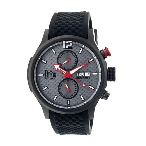 Reign Capetain Automatic Watch w/Day/Date - Black/Grey REIRN1105