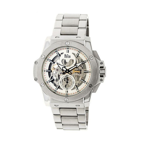 Reign Commodus Automatic Skeleton Bracelet Watch - Silver REIRN4006