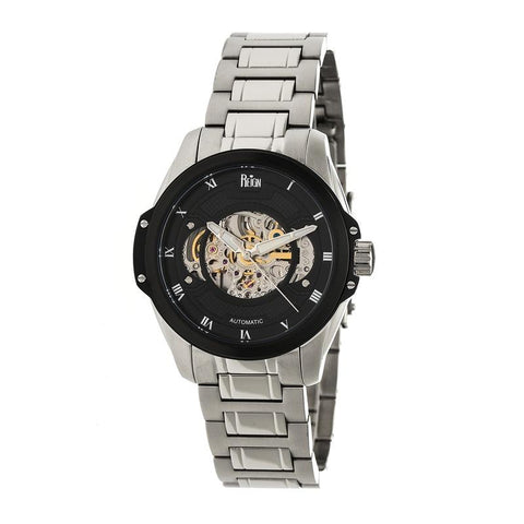 Reign Henley Automatic Semi-Skeleton Bracelet Watch - Silver/Black REIRN4502