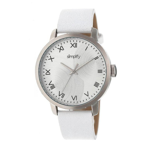Simplify The 4200 Leather-Band Watch - White SIM4201