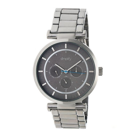 Simplify The 4800 Bracelet Watch w/Day/Date - Silver/Grey SIM4803