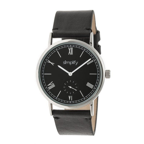 Simplify The 5100 Leather-Band Watch - Black SIM5102