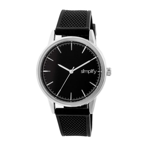 Simplify The 5200 Strap Watch - Silver/Black SIM5202
