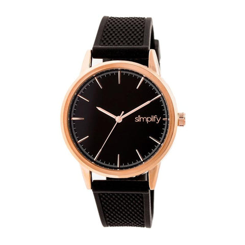 Simplify The 5200 Strap Watch - Rose Gold/Black SIM5204