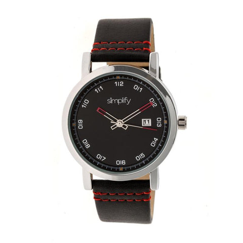 Simplify The 5300 Strap Watch - Silver/Black SIM5302