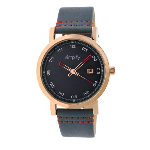 Simplify The 5300 Strap Watch - Rose Gold/Blue SIM5305