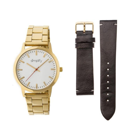 Puredial Square Legacy Mens Watch - Silver/Silver SIM2800GLD