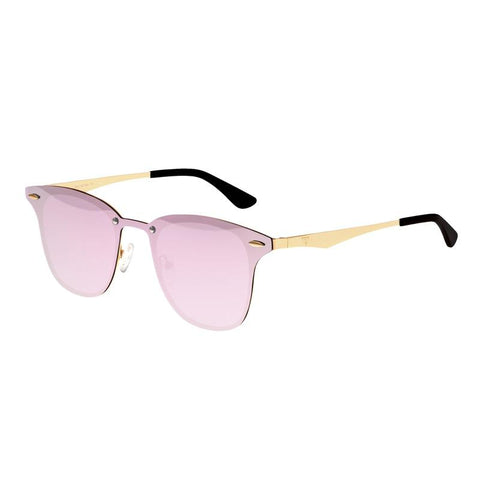 Sixty One Infinity Polarized Sunglasses - Gold/Pink-Celeste SIXS142PU