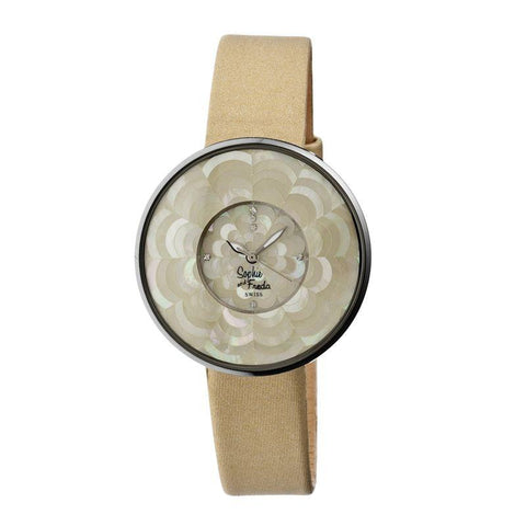 Sophie & Freda Venice MOP Swiss Ladies Watch - Gold SAFSF1103