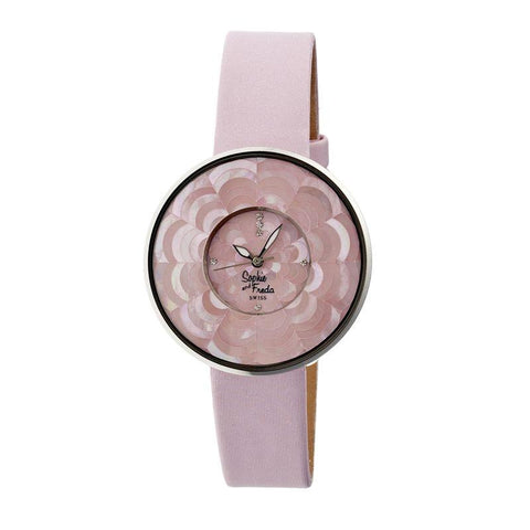 Sophie & Freda Venice MOP Swiss Ladies Watch - Pink SAFSF1105