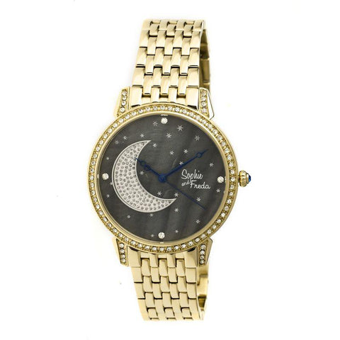 Sophie & Freda Moon & Stars Ladies Bracelet Watch - Gold SAFSF2402