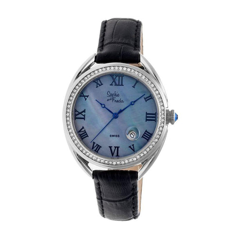 Sophie & Freda Austin MOP Swiss Ladies Watch - Silver/Black SAFSF2901