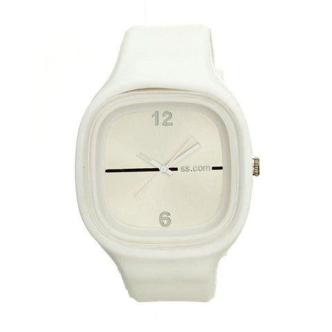 Flexi White Rubber Watch SUPWHITE