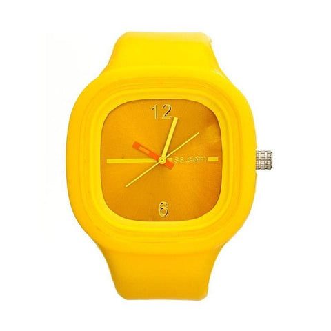 Flexi Yellow Rubber Watch SUPYELLOW