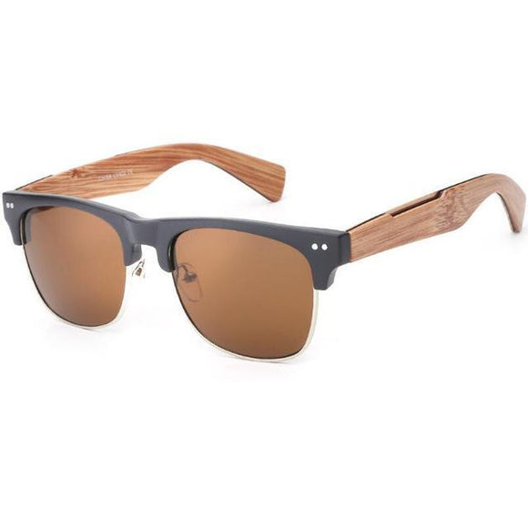 Imitate Bamboo Wood Sunglasses - Chilling Outdoors