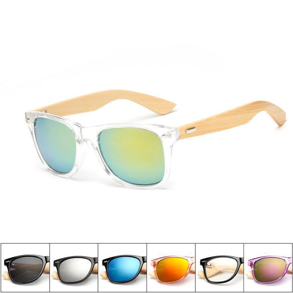 Unisex Mirrored Bamboo Sunglasses - Chilling Outdoors