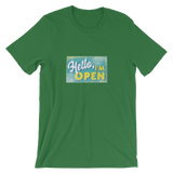 'Hello, I'm OPEN' T-shirt