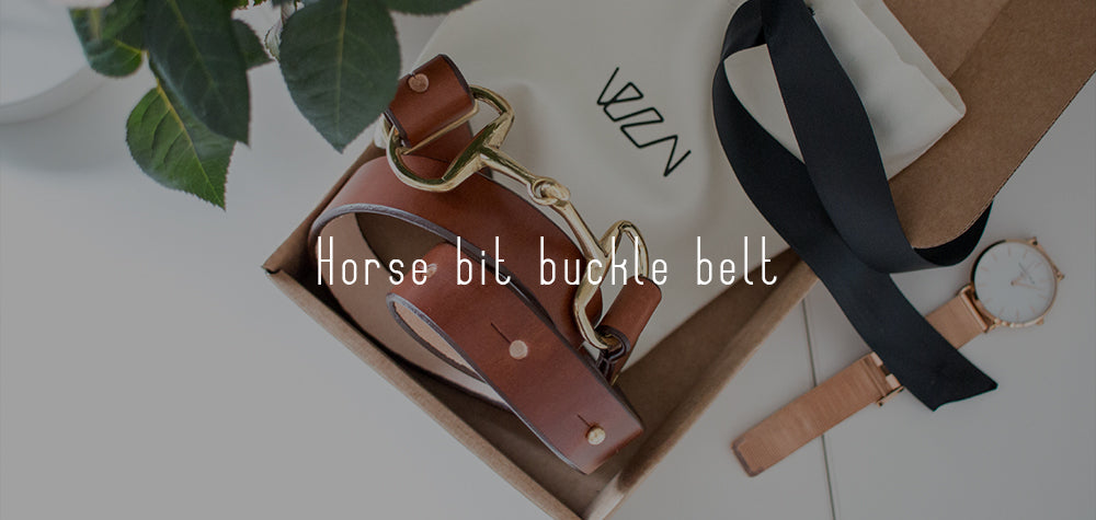 Equestrian fashion- horse bit belt featured in Absolute Horse Magazine!