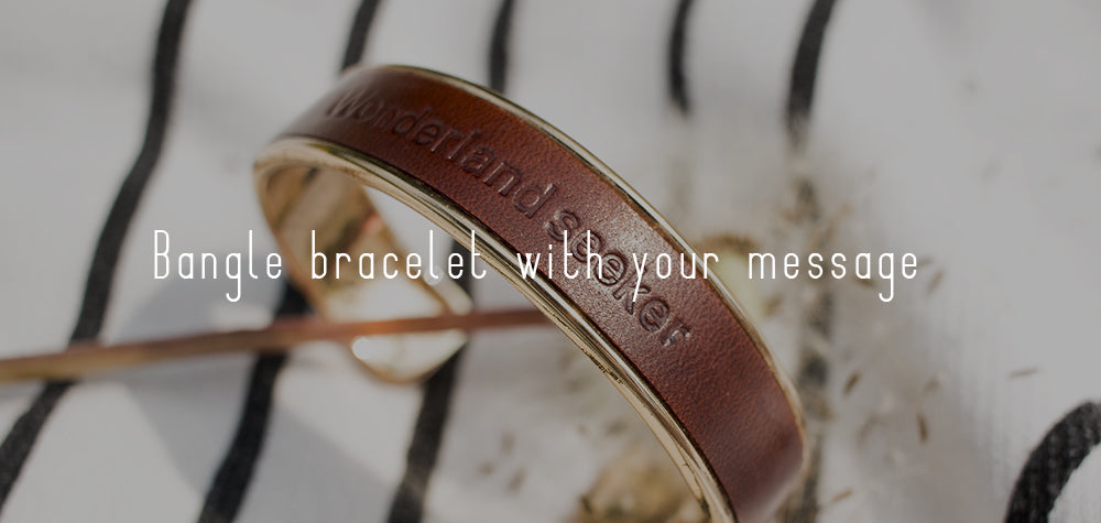 Bangle bracelet with your message