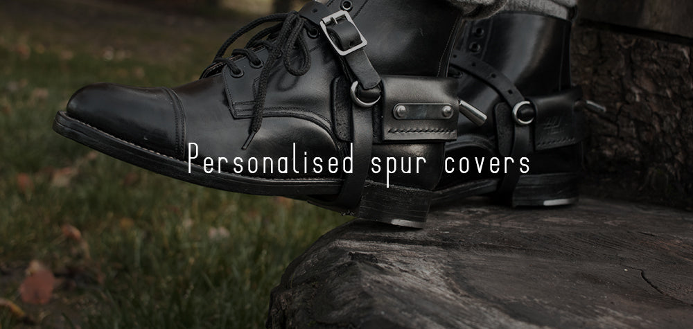 Reserved for riders- personalised spur covers
