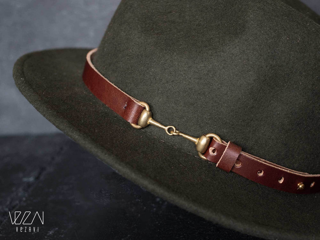 Leather hat bands