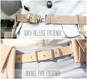 Leather belt bag belt choice
