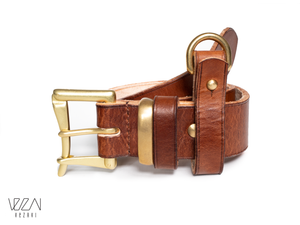 Leather belt | Firefighter belt | Quick release buckle