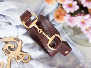 Horse fashion snaffle bit belt