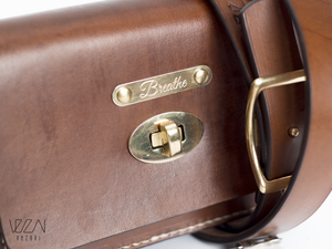 Leather belt bag with turn button | Fanny pack