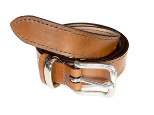 Personalised leather belt brown