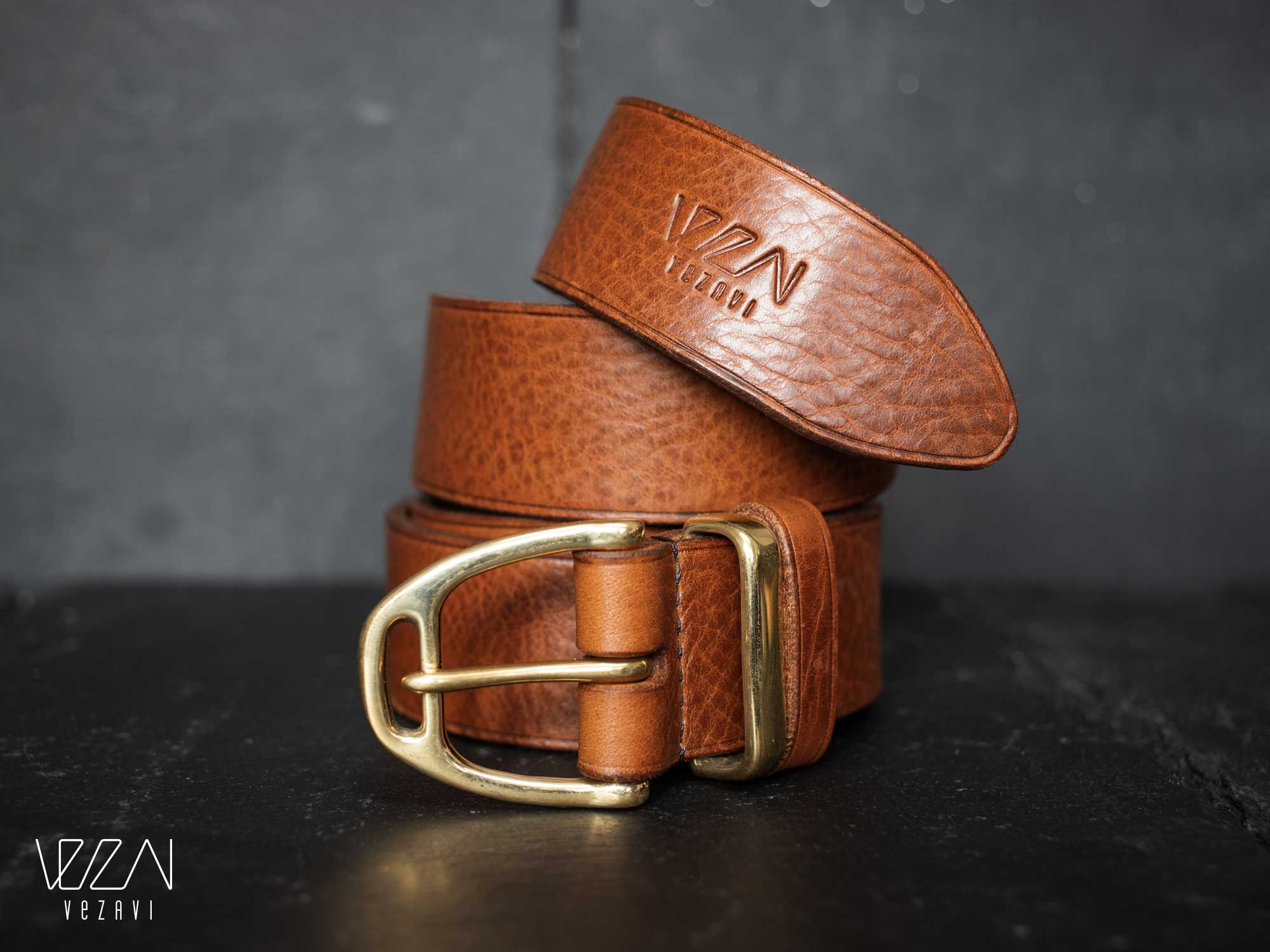 Horse fashion belt stirrup buckle | Soft textured leather