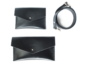 Leather belt phone purse