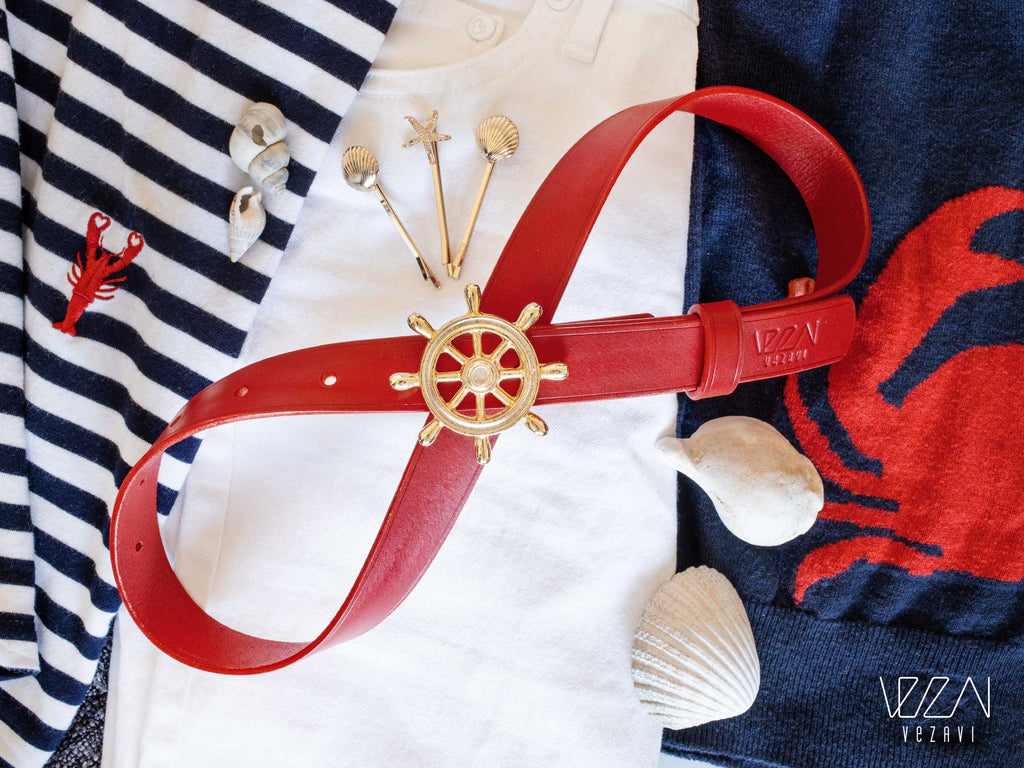 Nautical style | Steering wheel buckle belt | Ship's wheel