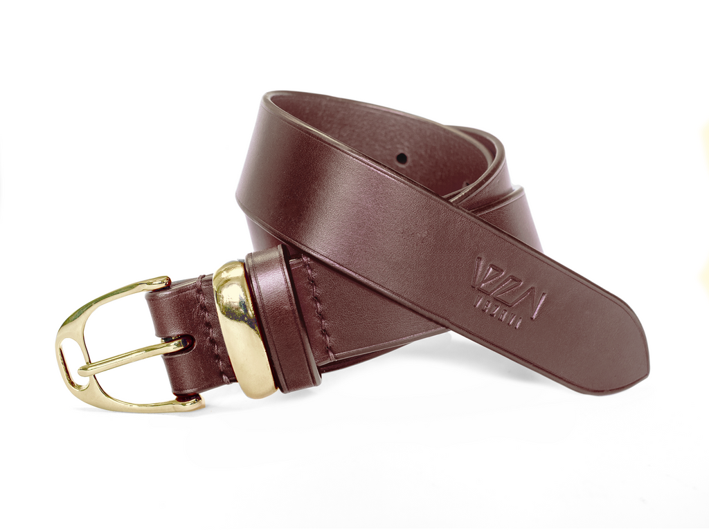 Horse fashion belt stirrup buckle | horse chestnut & brass
